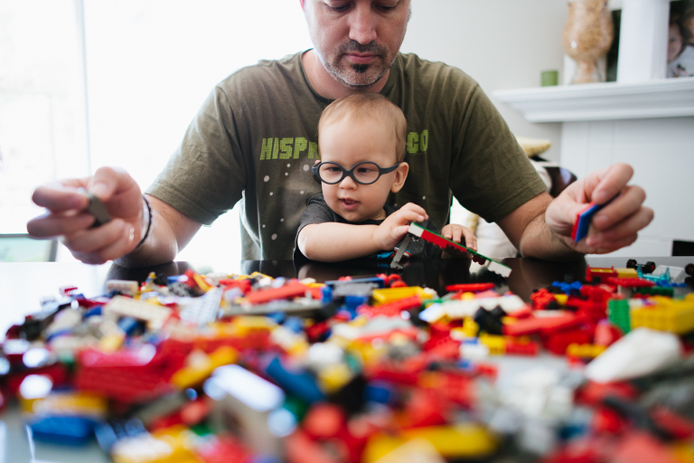 Baby with legos - Family Documentary Photography