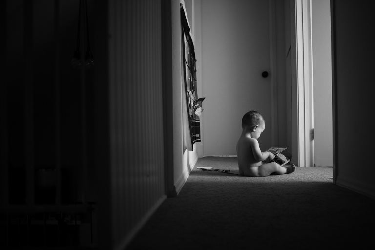 baby in hallway - Family Documentary Photography