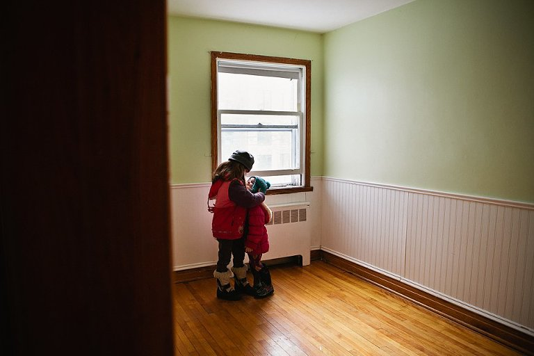 kids in new home - Family Documentary Photography