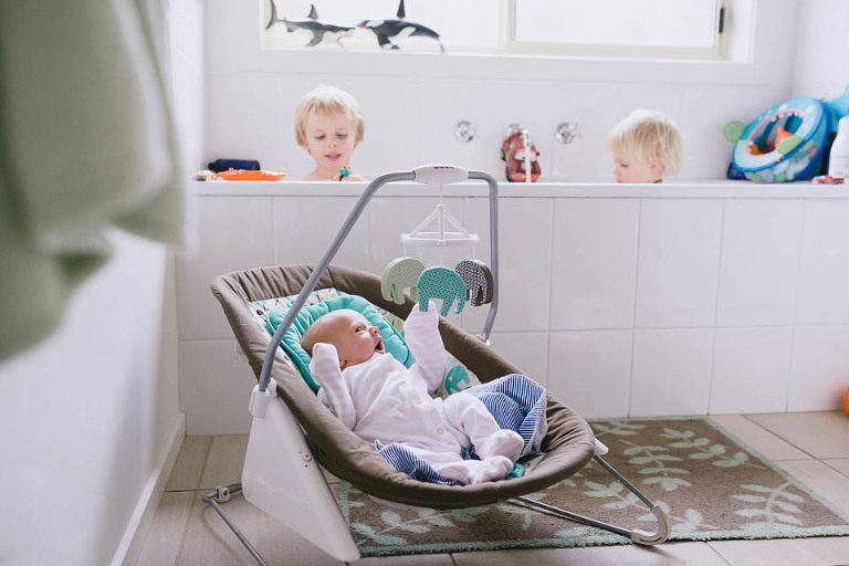 bathtime with baby - Family Documentary Photography