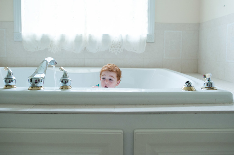 boy in tub - Family Documentary Photography Interview