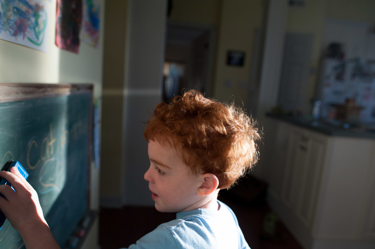 Boy with bed head - Family Documentary Photography