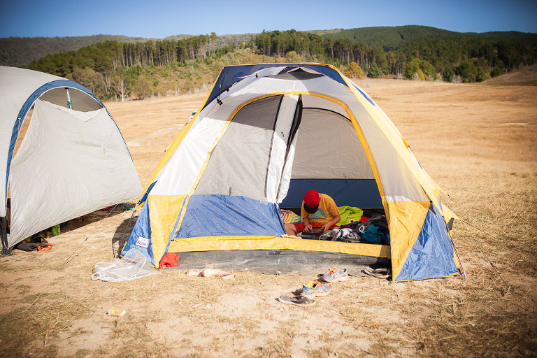 boy in tent - Family Documentary Photography