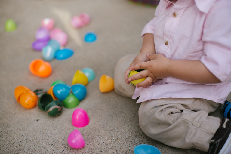 LIttle kids hands with easter eggs - Family Documentary Photography