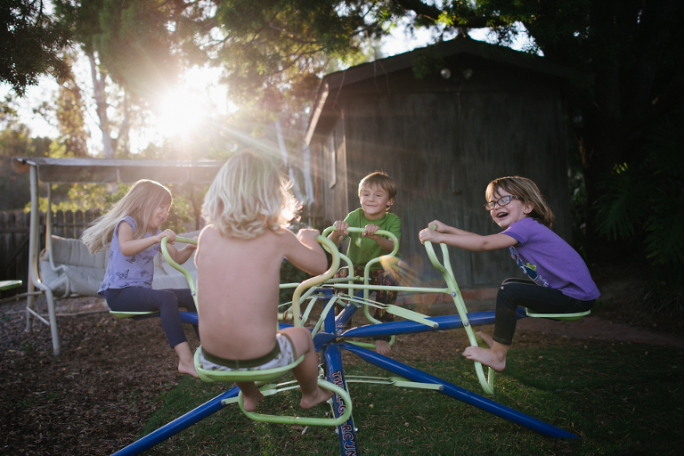 kids on playground  - Family documentary Photography