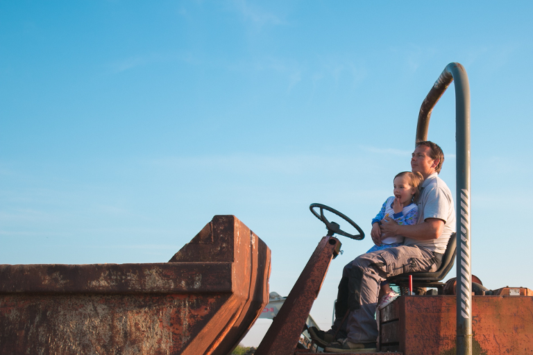 Kids on tractor - Family Documentary Photography