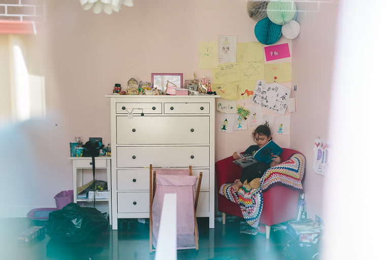 girl in bedroom  - Family Documentary Photography