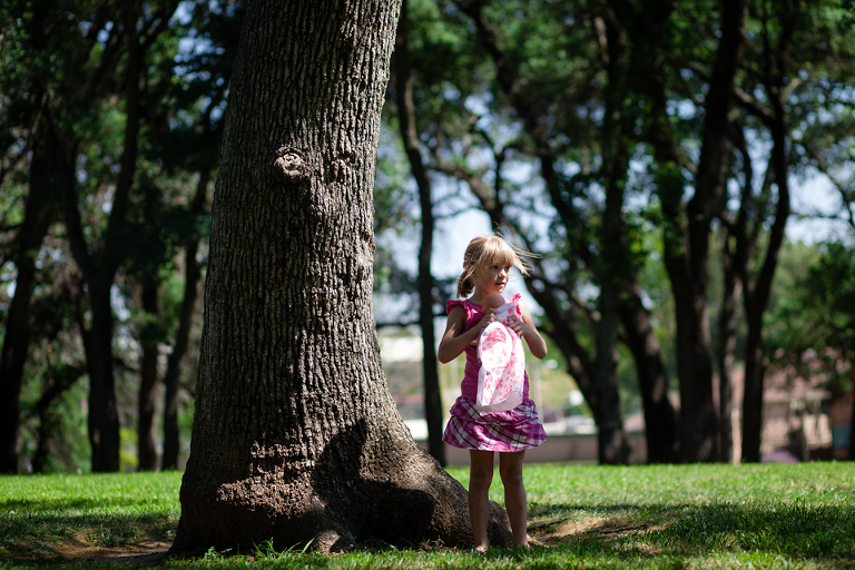 Girl near tree - Family documentary Photography