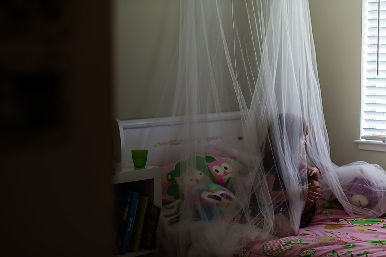girl in bedroom hideout - Family Documentary Photography