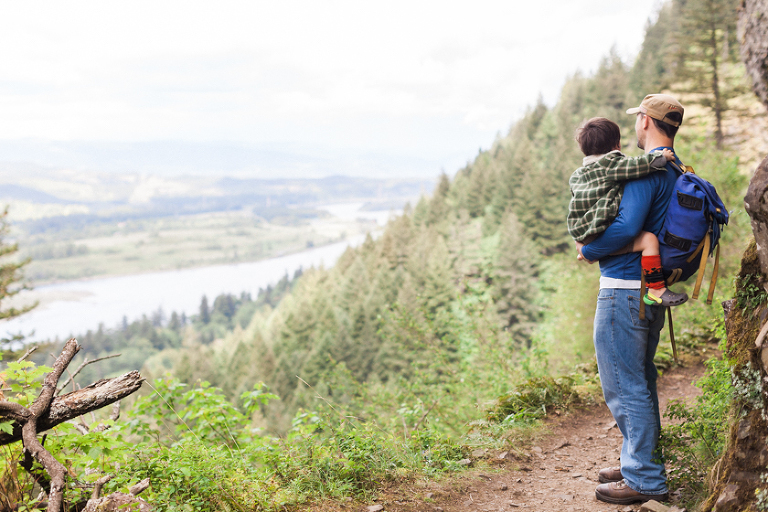 Father and child hiking - Family Documentary Photography