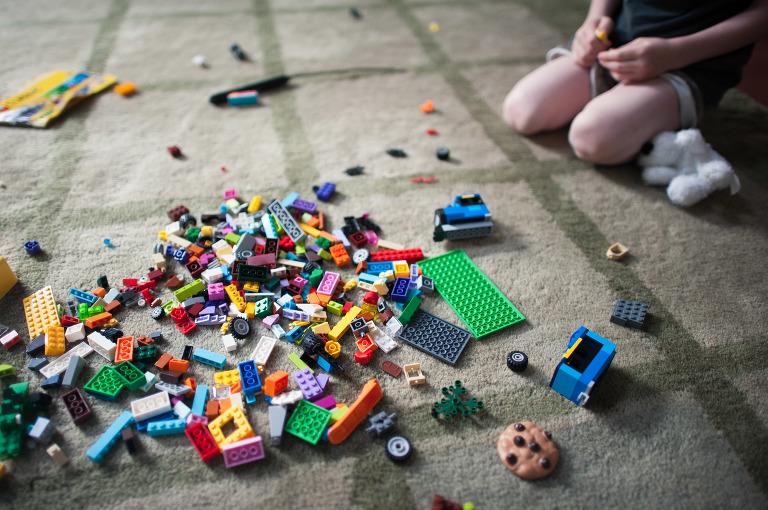 Pile of Legos - Family Documentary Photography