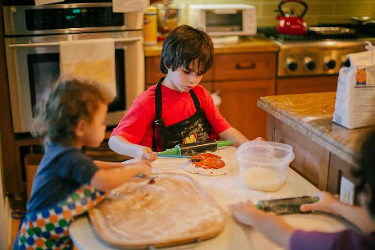 kids baking - Family Documentary Photography