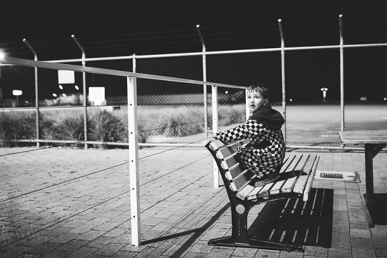 boy on park bench - Family Documentary Photography