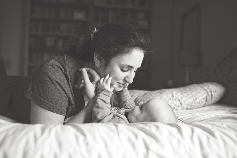 sister with baby - family documentary photography