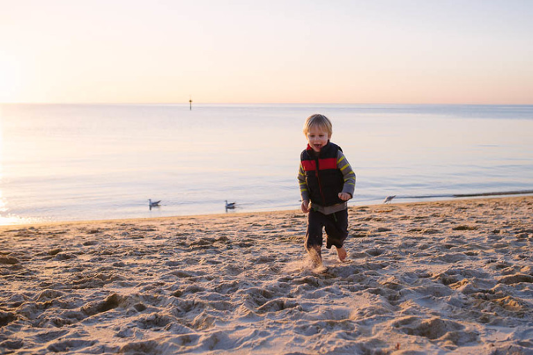 boy on beach - Family Documentary Photography