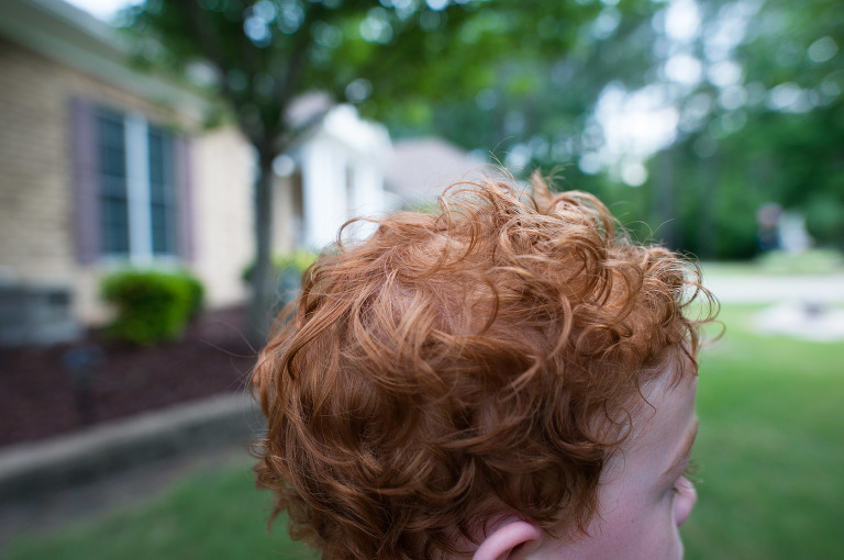 Sweaty boy hair - Family Documentary Photography