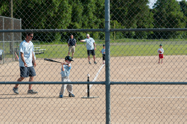 boy playing t-ball - Family Documentary Photography