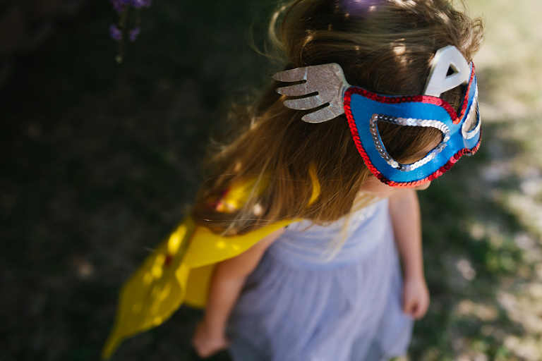 girl in super hero costume