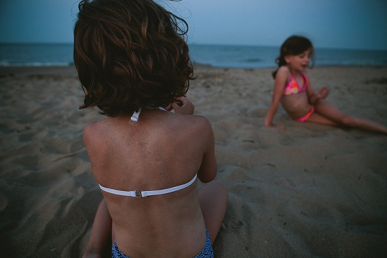 girls on beach -  Family documentary Photography