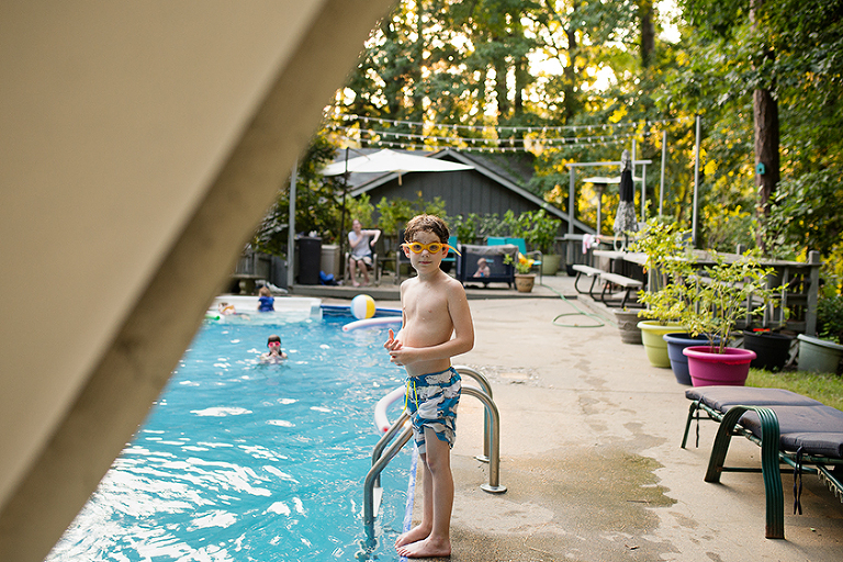 boy at pool - Family Documentary Photography
