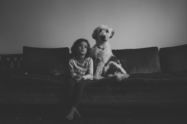 Girl with dog - Family Documentary Photography