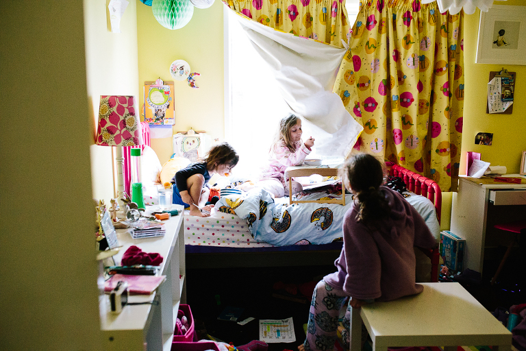 kids in bedroom - Family Documentary Photography