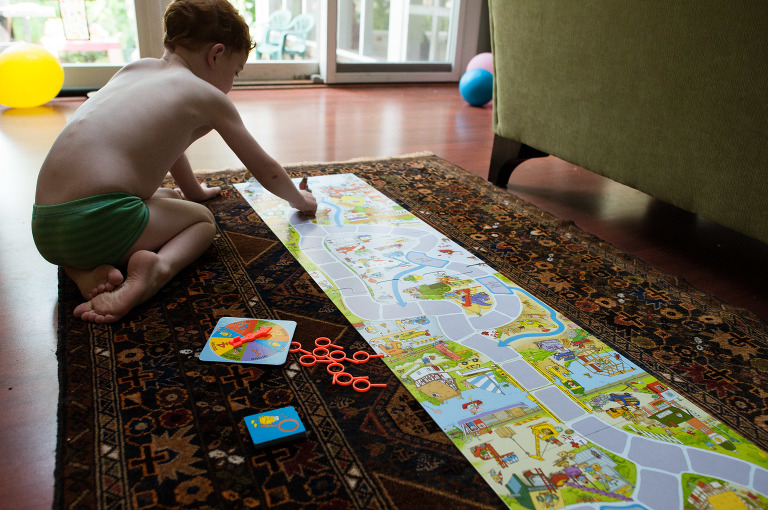 boy with board game - Family Documentary Photography
