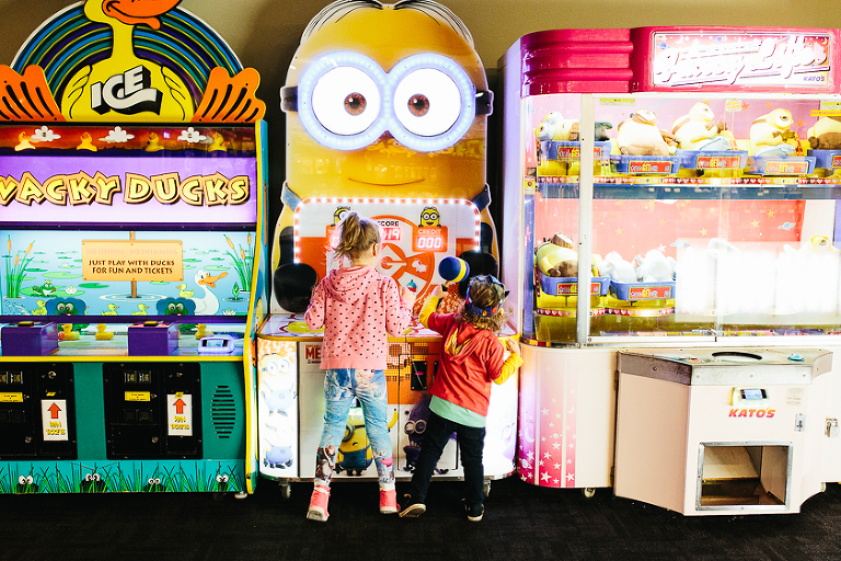 kids at arcade- Family Documentary Photography