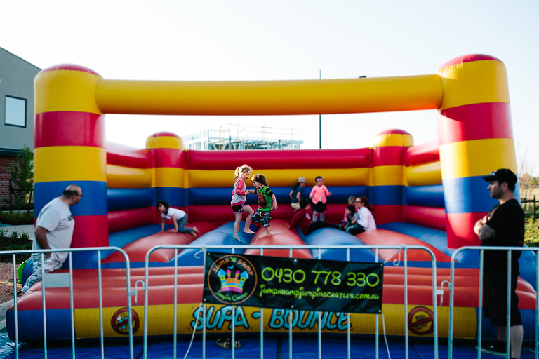 kids in bounce house - Family Documentary Photography