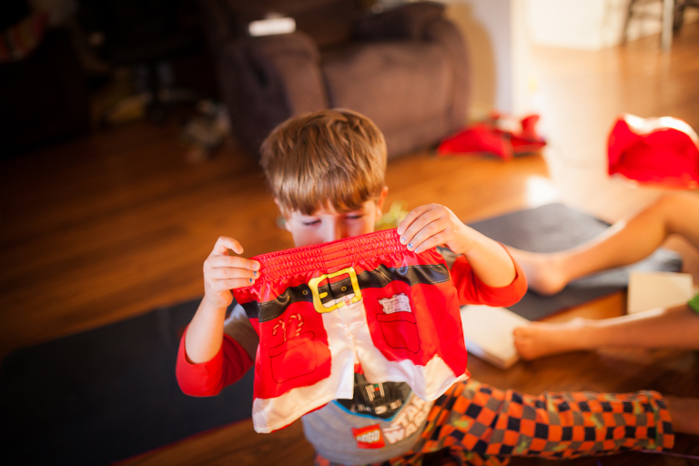 Boy with santa shorts - Family Documentary Photography