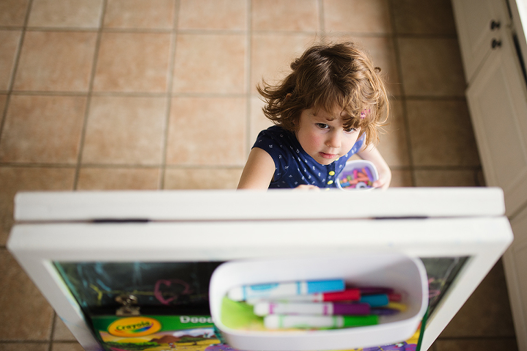 Girl at easel - Documentary Family Photography