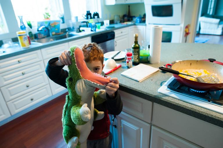 boy with stuffed alligator - Documentary Family Photography