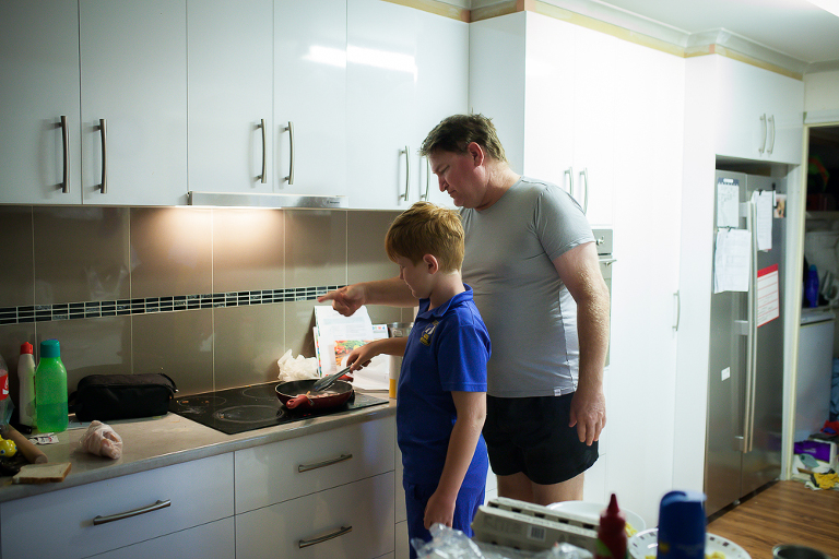 Father and son cook - Documentary Family Photography