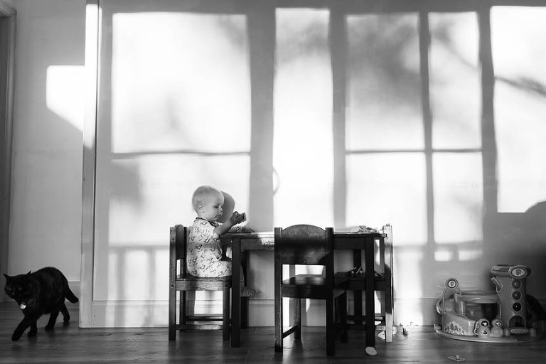 child at child's table - Documentary Family Photography