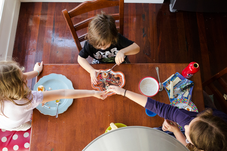 Family at meal time - Documentary Family Photography