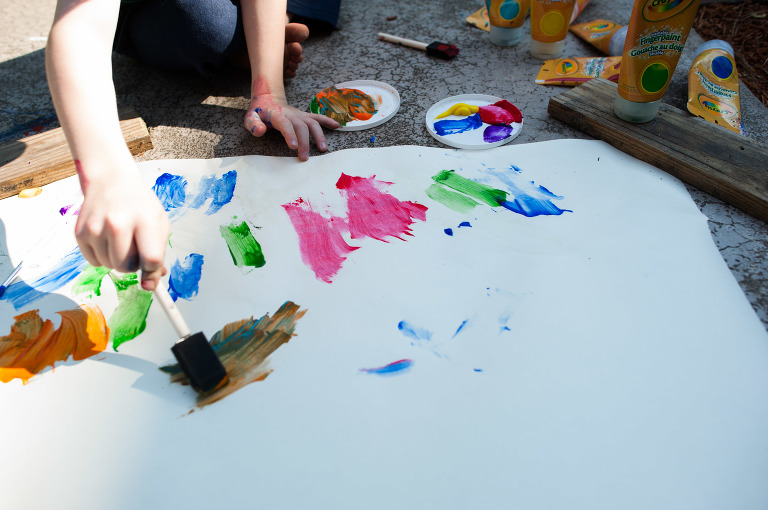 child painting - Documentary Family Photography