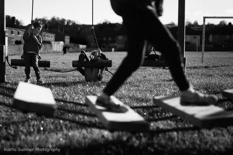 kids on playground in sunshine - Documentary Family photography