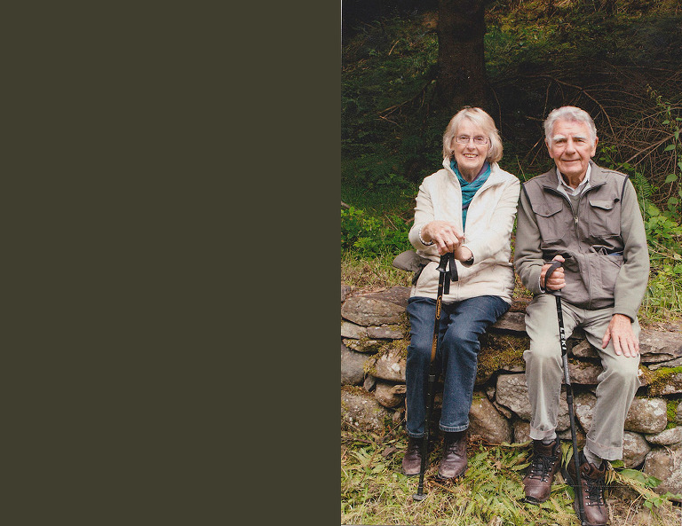 grandparents take a break from hiking - Documentary Family Photography