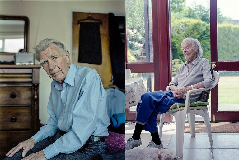 aged portraits of grandmother and grandfather - Documentary Family Photography