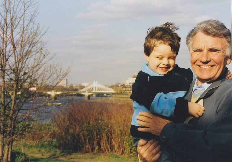 grandfather with grandchild - Documentary Family Photography