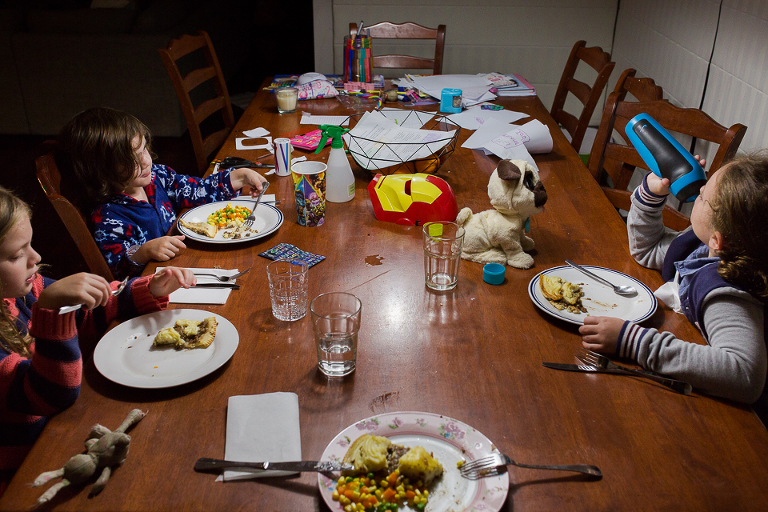Family at dinner table - Documentary Family Photography
