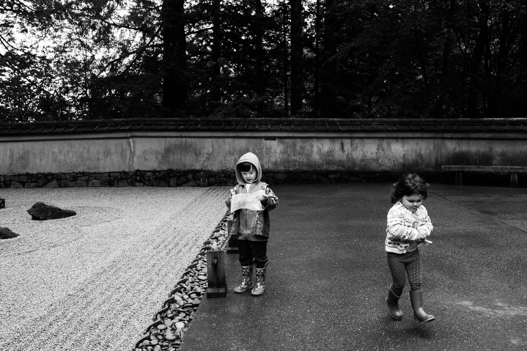 kids out side in galoshes - Documentary Family Photography