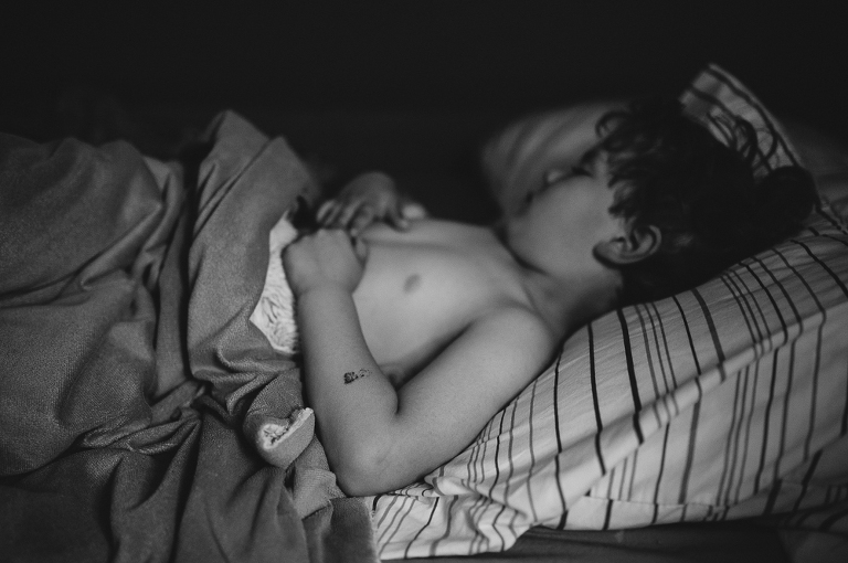 boy in bed - Documentary Family Photography