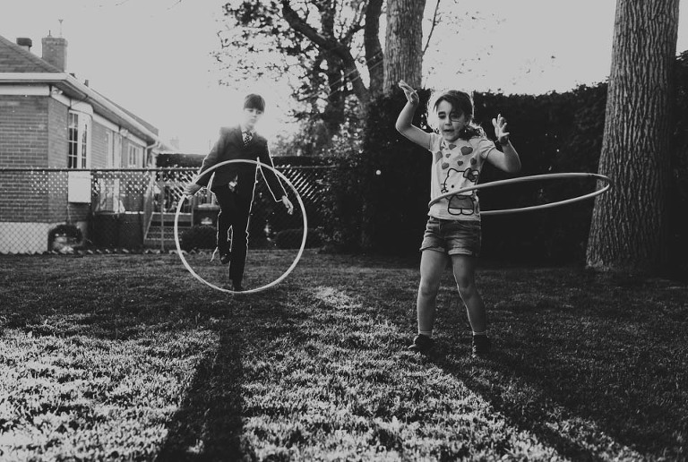 kids with hula hoops - Documentary Family Photography