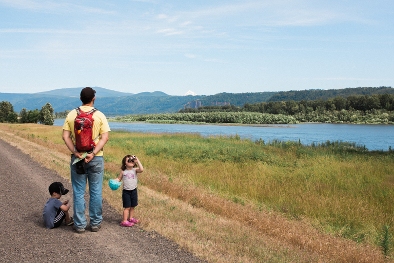Family on hike - Documentary Family Photography
