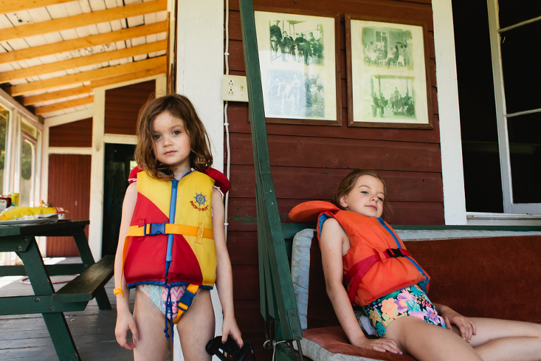 kids in life jackets - Documentary Family Photography
