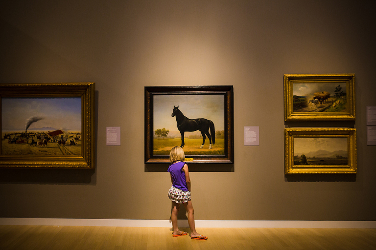 girl at art museum - Documentary Family Photography