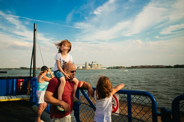 family at pier - Documentary Family Photography - Sham of the Perfect