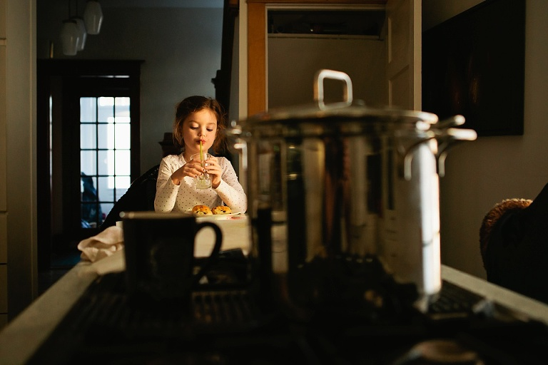 girl sips from straw - Documentary Family Photography - Sham of the Perfect