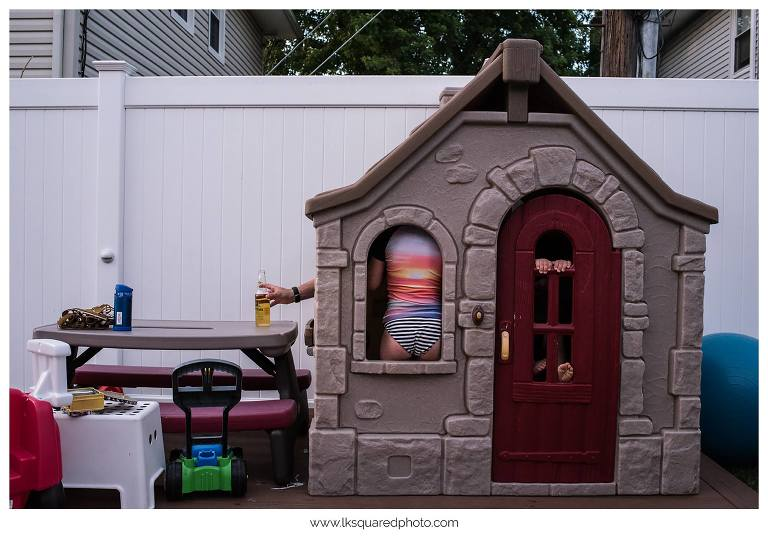 kids in playhouse - Documentary Family Photography